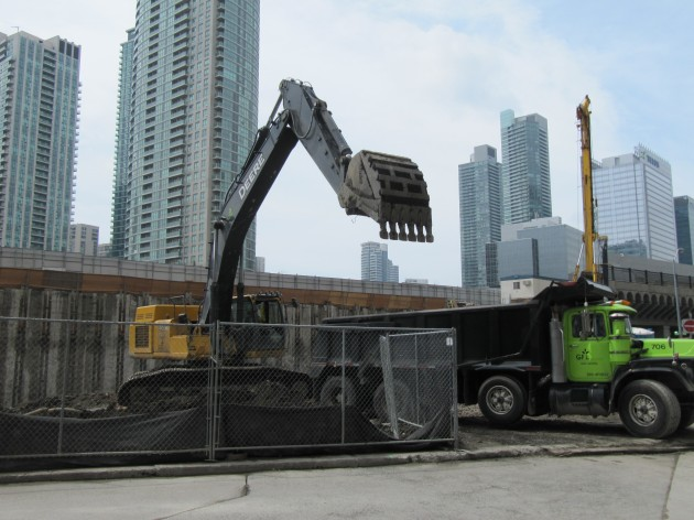 Excavating at 1 The Esplanade