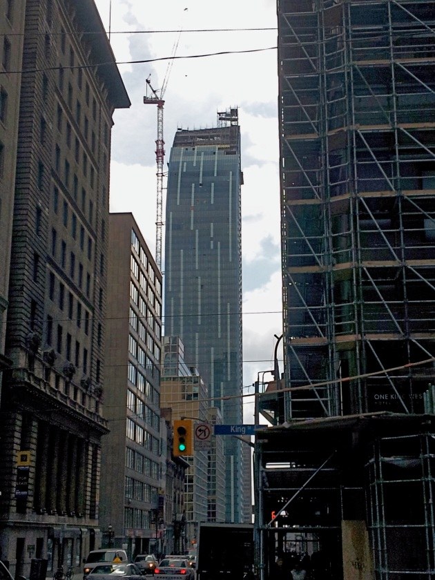L Tower as seen from King Street East, looking south on Yonge Street