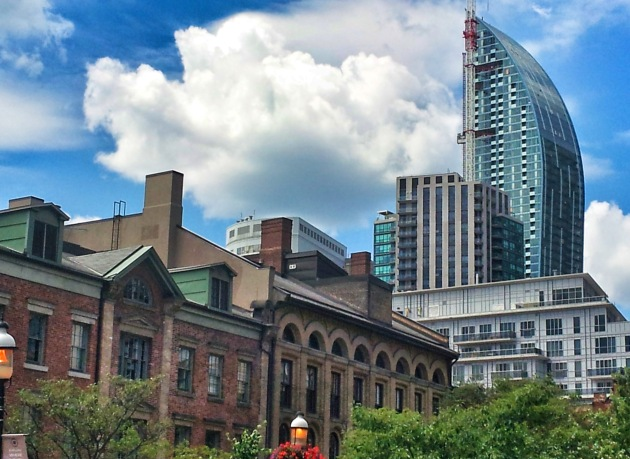 The L Tower as seen from St. Lawrence Market (North), Friday July 4, 2014