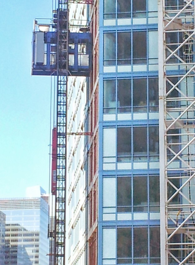 The L Tower Hoist (external elevator) which be taken down on July 19 and 20, 2014.