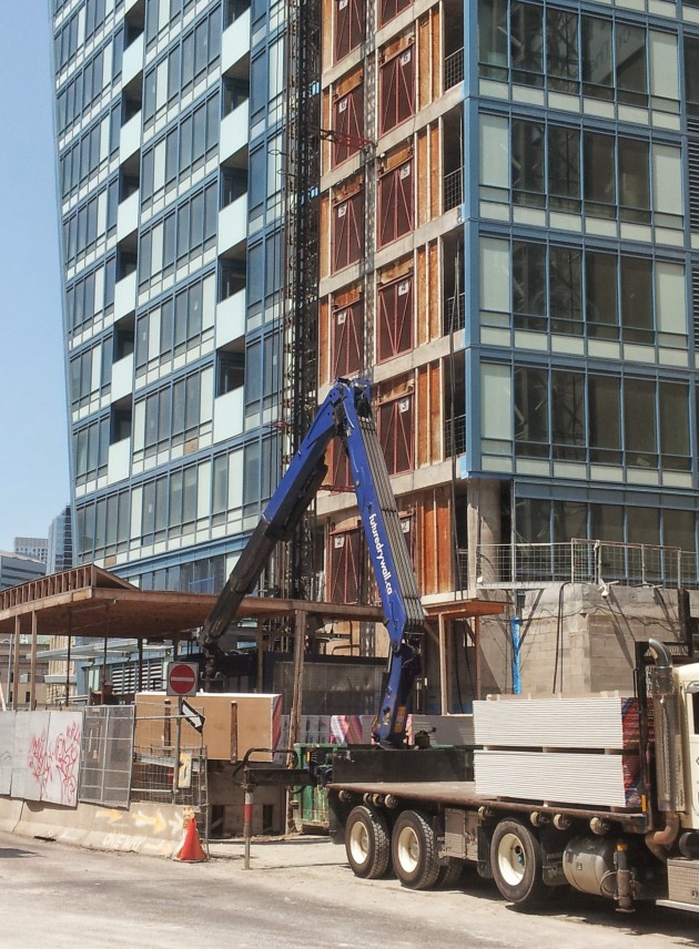 Loading in at the L Tower hoist on July 18, 2014