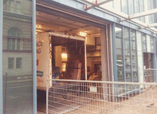 L Tower Yonge Street loading entrance