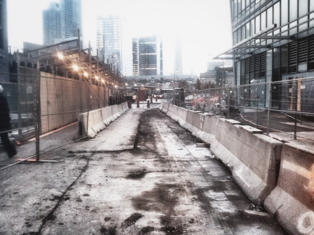 The Esplanade closed to cars between Yonge and Scott