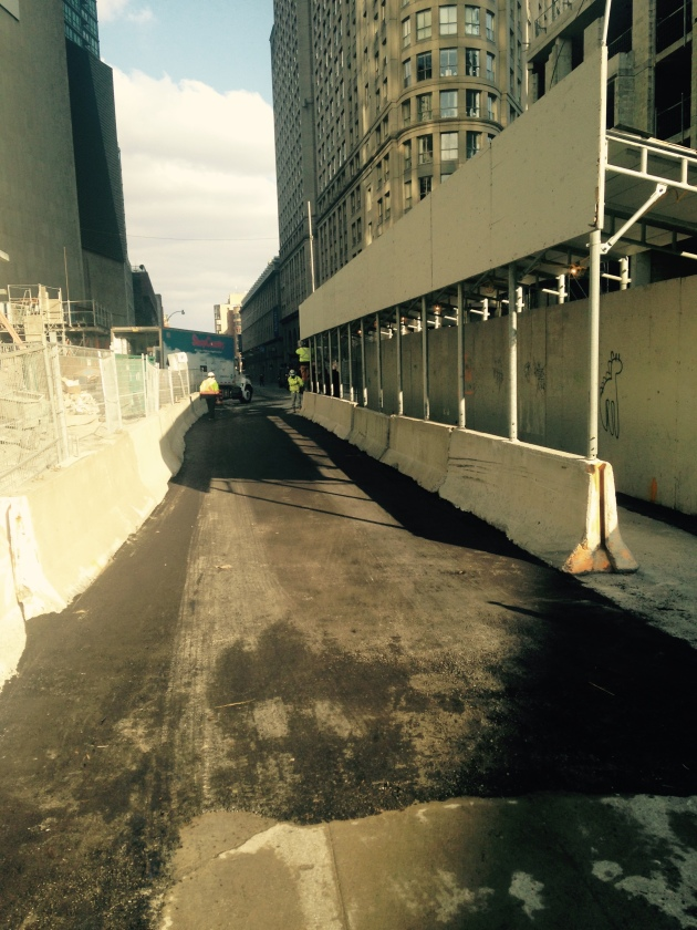 The eastbound lane of The Esplanade reopened earlier than expected today - November 15.