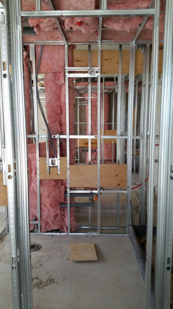 Getting ready for drywall on the 8th floor of Backstage
