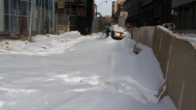The Esplanade under snow at L Tower