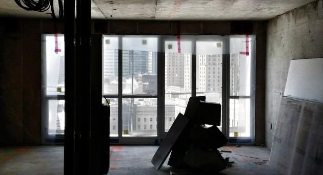 Backstage 13th floor unfinished suite.