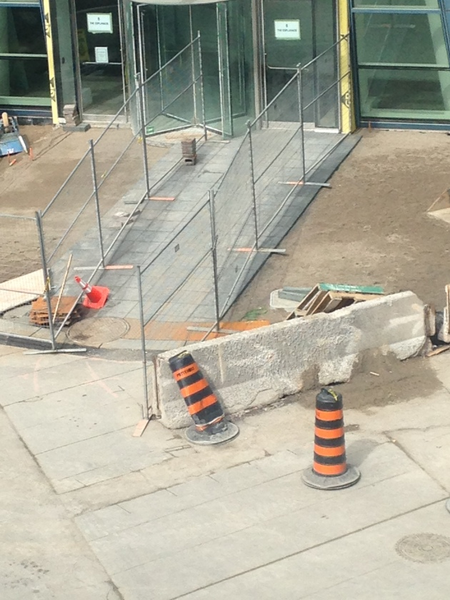 New Sidewalk on The Esplanade at L Tower March 27