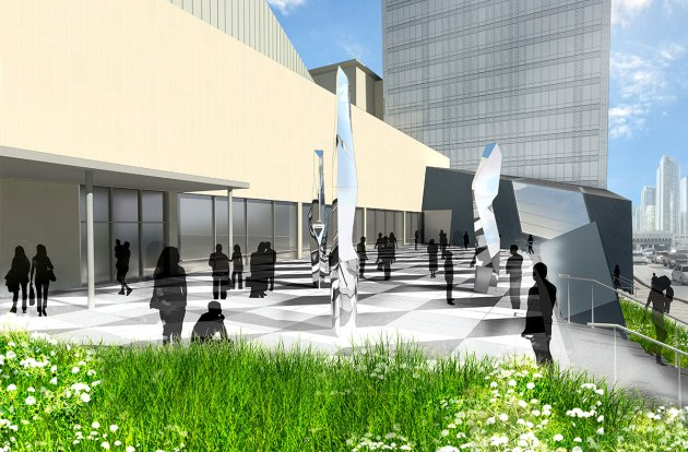 Sony Plaza Design by Claude Cormier + Associates http://www.claudecormier.com/en/projet/sony-center-for-the-performing-arts/