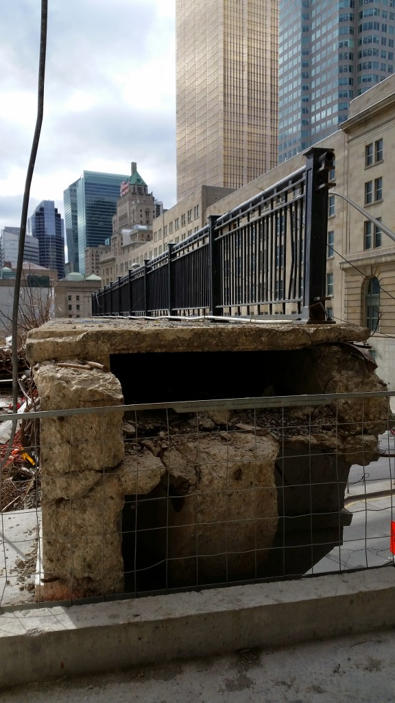 Yonge Street Railway Bridge - future PATH connection to Union Station.
