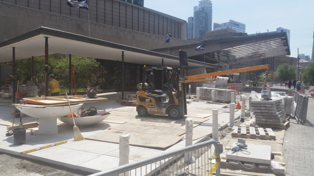 City of Toronto work on the Sony Centre's north plaza.