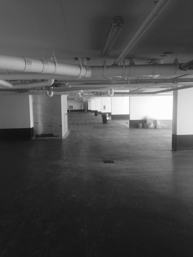 Backstage interior construction