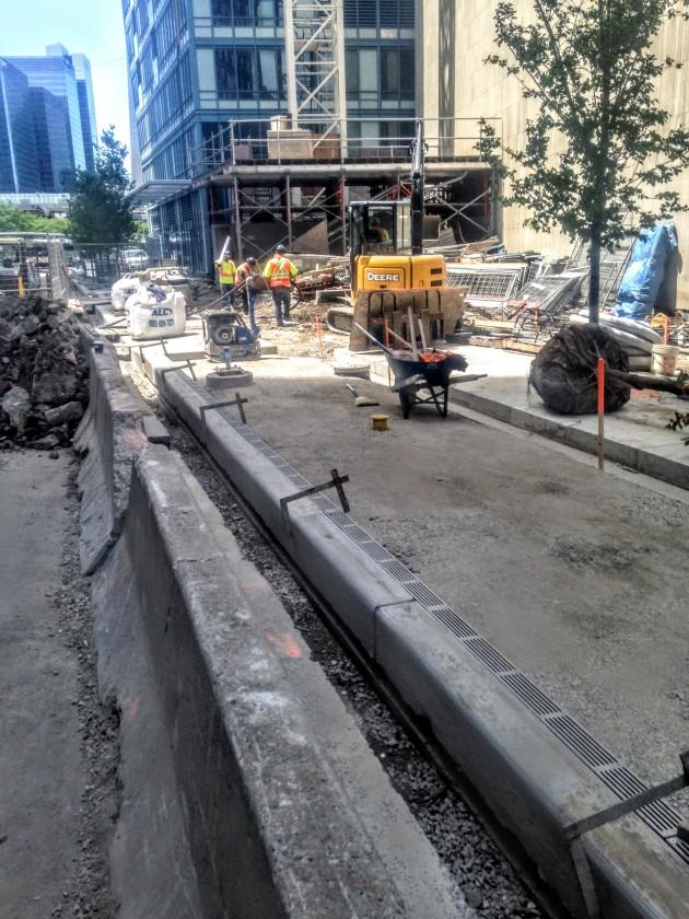 Esplanade sidewalk work June 19, 2015