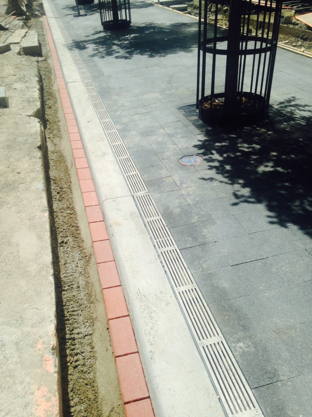 New and improved Esplanade sidewalk
