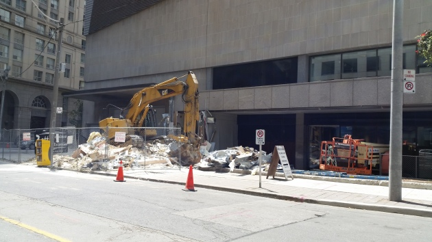 City of Toronto work for the Sony Centre on Scott Street