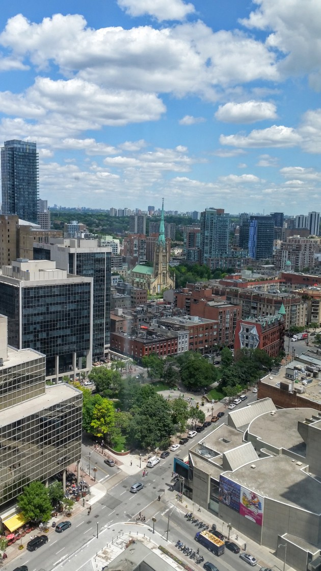 View of Berczy Park and St. James Park from the L Tower 26th Floor