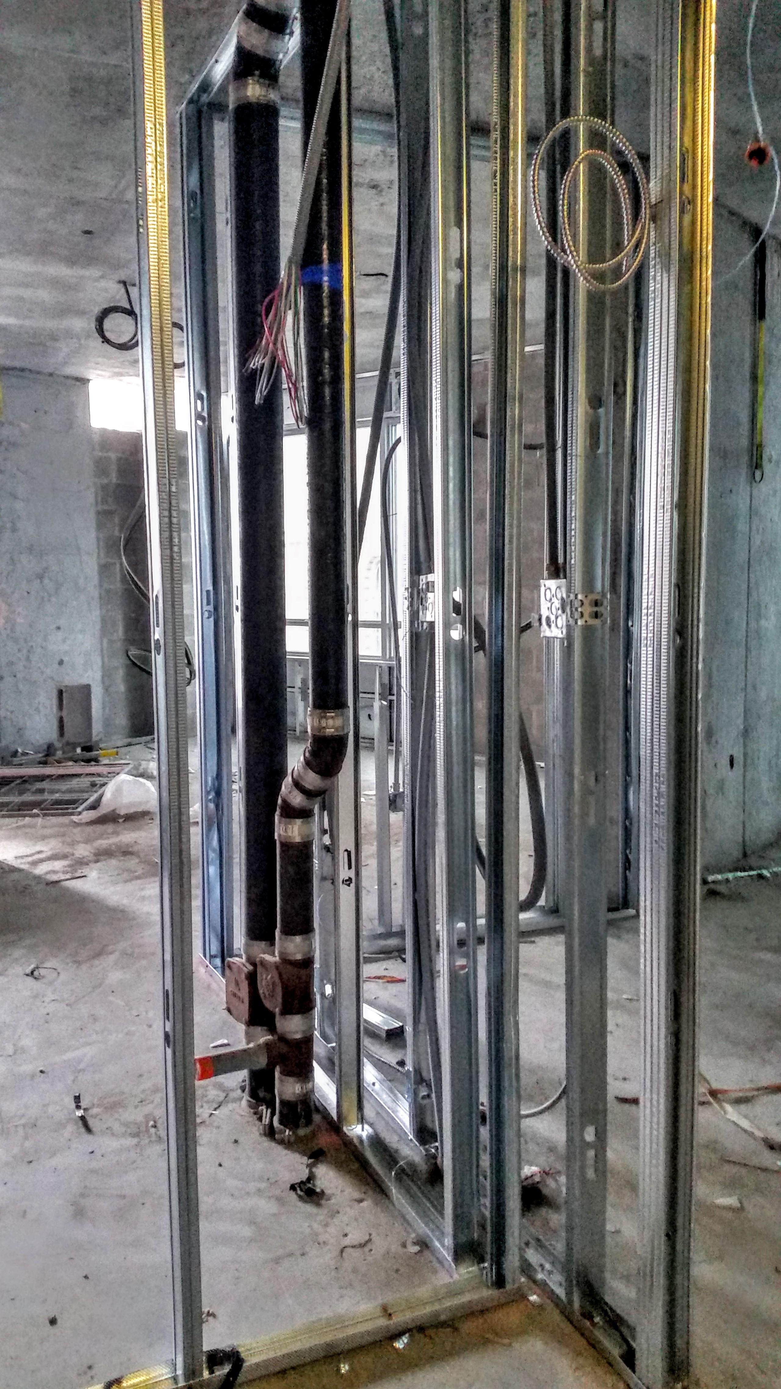 Dry Wall Construction : Asphalt work l tower backstage construction information