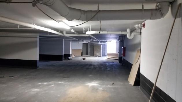 Recently completed Backstage parking level.