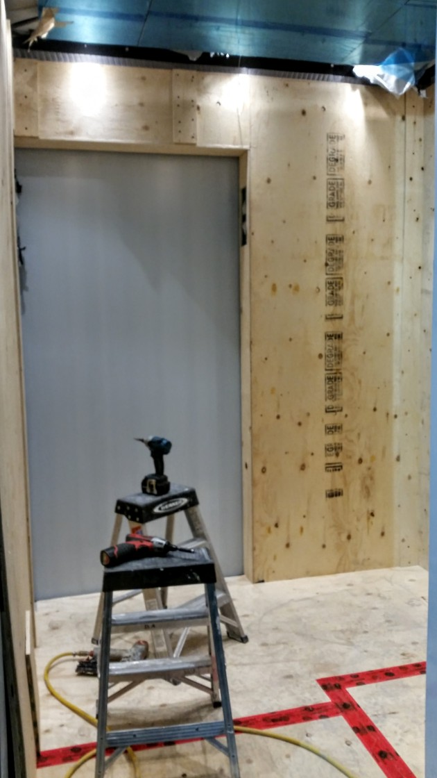 Fitting out elevator interiors at Backstage