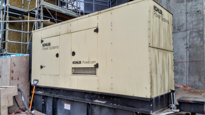 External generator at Backstage scheduled to be removed on Tuesday Feb 9