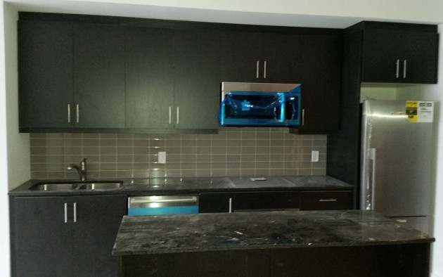 Kitchen installed in a Backstage suite.