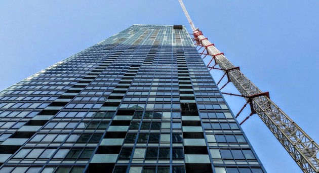 L Tower: the tower crane is scheduled to be taken down in March.