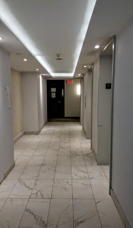 Backstage 8th floor elevator lobby