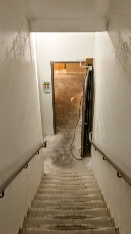 Stairwell leading to the 2nd floor at Backstage