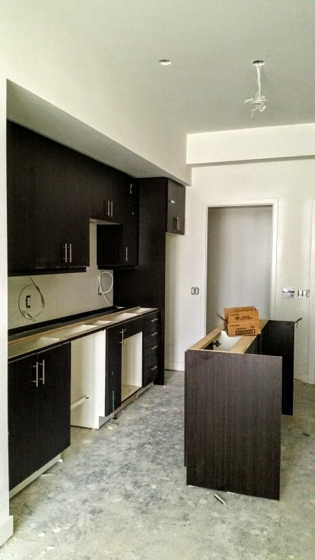 Kitchen installed in 5th floor suite at Backstage