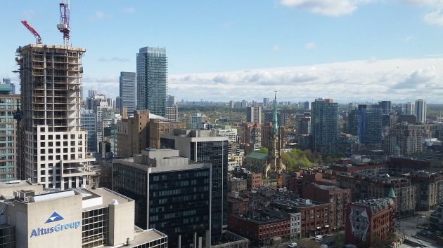 St. Lawrence Market Neighbourhood seen from the L Tower