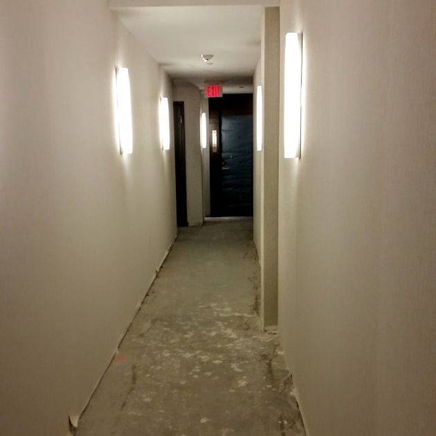 One of the last unfinished hallways at Backstage.